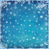 Abstract Christmas background with the snowflakes Royalty Free Stock Photos