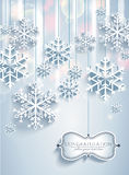 Abstract Christmas background with snowflakes stock illustration