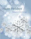 Abstract Christmas background with snowflakes royalty free illustration