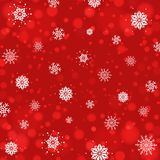 Abstract Christmas background with snowflakes and bokeh background. New year lights. Stock Photos
