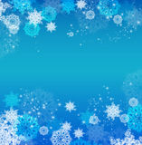 Abstract Christmas background with snowflakes Royalty Free Stock Photos