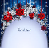 Abstract Christmas background with snowflakes. Happy New Year. Royalty Free Stock Photos