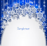 Abstract Christmas background with snowflakes. Happy New Year. Stock Image