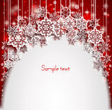 Abstract Christmas background with snowflakes. Happy New Year. Royalty Free Stock Photo