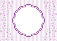 Abstract Christmas background with snowflakes Stock Images