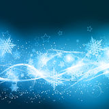 Abstract Christmas background. With snowflakes and stars vector illustration
