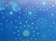 Abstract christmas background snowflakes and stars Stock Photo