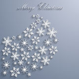 Abstract Christmas Background with snowflakes. Royalty Free Stock Image