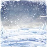 Abstract Christmas background with snowflakes Stock Photography