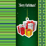 Abstract Christmas background with snowman Stock Images