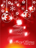 Abstract christmas background with sparkle Royalty Free Stock Photography