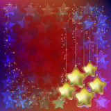 Abstract christmas background with stars Stock Images