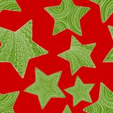 Abstract christmas background with stars. Vector Stock Photos