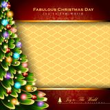 Abstract Christmas Background. Christmas Tree Concept. Vector and Illustration, EPS 10 Stock Image