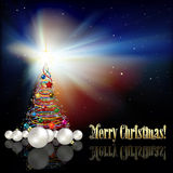 Abstract Christmas background with tree Royalty Free Stock Photo