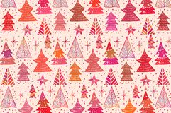 Abstract christmas background with christmas trees. Vector Royalty Free Stock Image