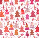Abstract christmas background with christmas trees. Vector Stock Photo