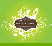 Abstract Christmas  background with tunes. Royalty Free Stock Photo
