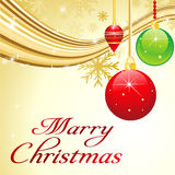 Abstract christmas background with wave Stock Photo