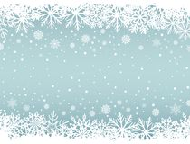 Abstract Christmas background with white snowflake borders. And copy space in the center. Vector illustration stock illustration