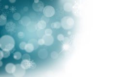 Abstract Christmas background. With white snowflakes Stock Illustration