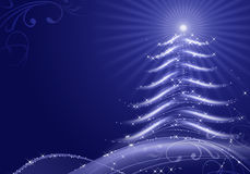 Abstract Christmas Background With Snow Flakes Stock Image