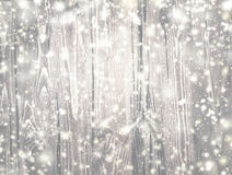 Abstract Christmas Background with wooden texture and falling Royalty Free Stock Image
