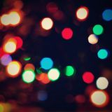 Abstract christmas background, xmas texture from color lights for Christmas tree. Stock Images