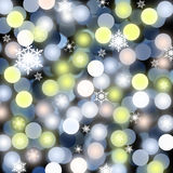 Abstract Christmas backgrounds. Christmas background: snowflakes, balls are blue, white, pink Stock Photos