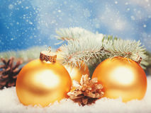 Abstract Christmas backgrounds. With holiday decorations Stock Photography