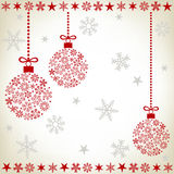 Abstract christmas ball background Royalty Free Stock Photo