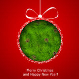 Abstract Christmas ball cutted from paper Royalty Free Stock Photo