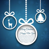 Abstract Christmas ball cutted from paper. Stock Photography