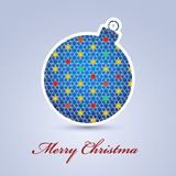 Abstract Christmas ball cutted from paper Stock Photography