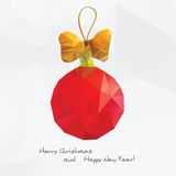 Abstract Christmas ball with Royalty Free Stock Photos