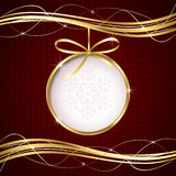 Abstract Christmas ball Royalty Free Stock Photos