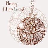 Abstract christmas balls. Abstract doodle ethnic christmas balls Stock Illustration