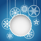 Abstract christmas balls. With ornament of snowflakes Royalty Free Illustration