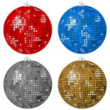 Abstract Christmas balls Stock Photo
