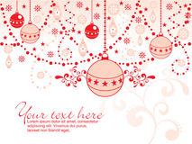 Abstract christmas balls background Royalty Free Stock Images