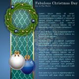 Abstract Christmas Balls Background. Royalty Free Stock Images