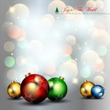 Abstract Christmas Balls Background. Stock Images