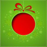 Abstract Christmas balls cutted from paper  Stock Photography