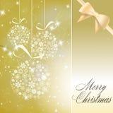 Abstract christmas balls made of white snowflakes Stock Photo
