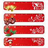Abstract christmas banner Stock Photos