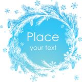 Abstract Christmas banner. Royalty Free Stock Photo