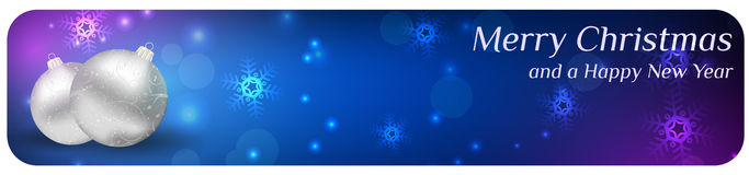Abstract christmas banner stock illustration
