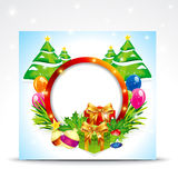 Abstract christmas banner backgorund Stock Photo