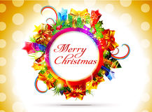 Abstract christmas banner bakground. Vector illustration Royalty Free Stock Images