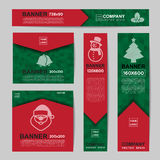 Abstract Christmas banner for Christmas Website Ads Stock Images